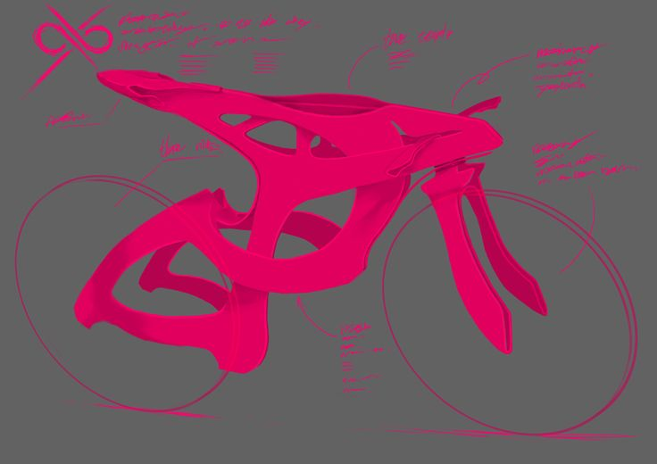 OXO CITY bike bicycle pink design sketch photoshop draw painting