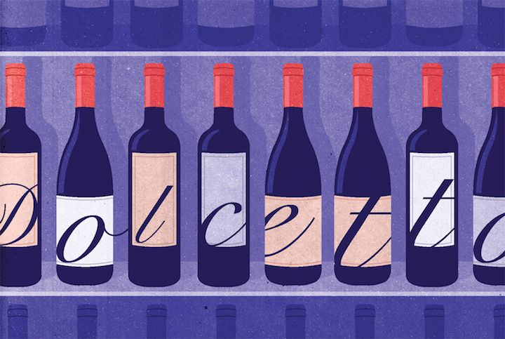 Kotryna Zukauskaite Wall Street Journal  Wine Column Dolcetto Wines -- A discreet number of truly delicious, affordable reds that deserve a higher status. http://joaniebrep.com/kotryna-zukauskaite-64/  #wine #dolcetto #illustration