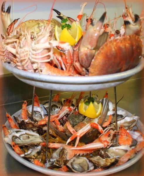 Le Restaurant du Bellevue - Restaurant gastronomique à Villerville, Deauville Honfleur avec vue panoramique sur la mer - Bellevue Hotel #hotel #restaurant #fruitsdemer #borddemer #mar #plage #crevette #crabe #miam #gourmand #food #instafood