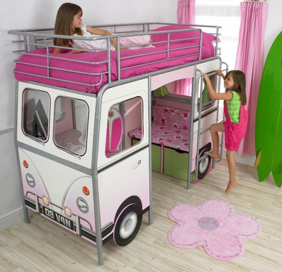 Cute and fun. Bunk Bed. #bedroom #home #bed #children #pink