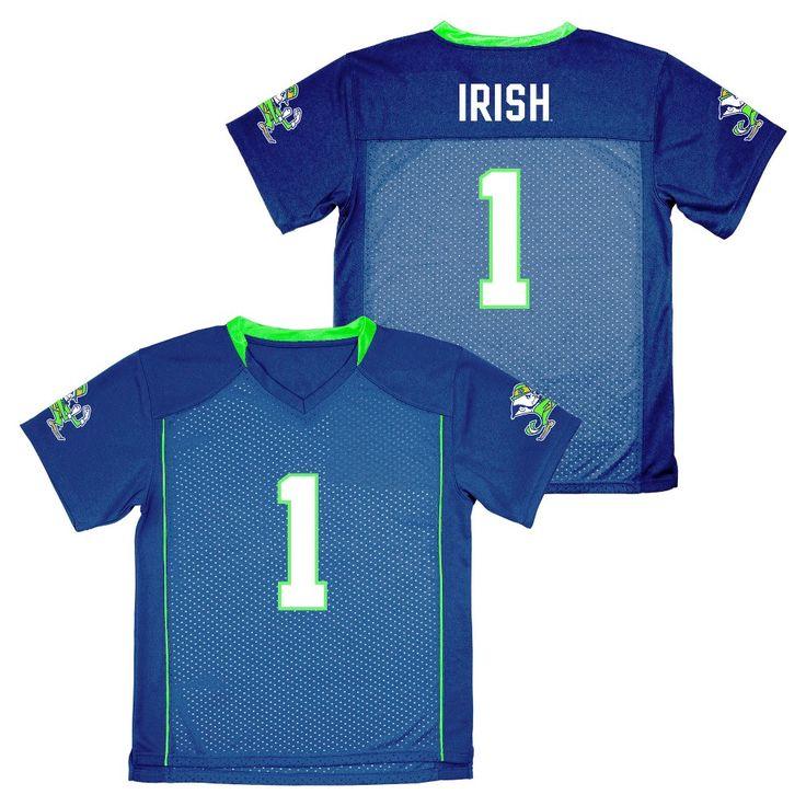 NCAA Boys' Replica Football Jersey Notre Dame Fighting Irish - L, Multicolored