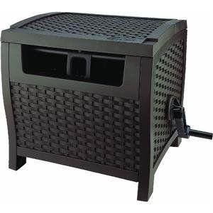 Amazon.com: Suncast PTW175 Mocha Wicker 175-Foot Capacity Hose Reel: Patio, Lawn & Garden