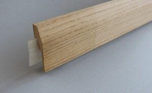 Plinthe électrique clipsable placage chêne - vue 2