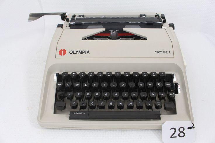 Schreibmaschine Olympia Carina 1 mit Koffer funktionsfähig Top Zustand in Büro & Schreibwaren, Bürotechnik, Schreibmaschinen | eBay!