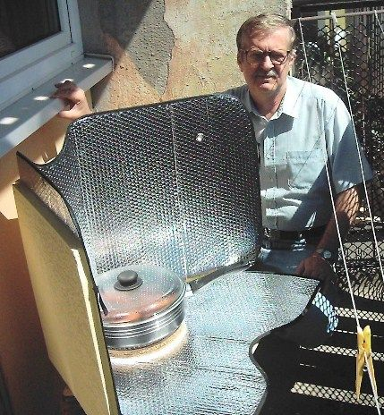 windshield solar cooker