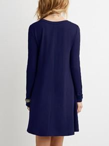 Casual blue long sleeve dress. Shift dress to wear out to dinner or wear out to a party! Fabric :Fabric is very stretchy Season :Fall Pattern Type :Plain Sleev