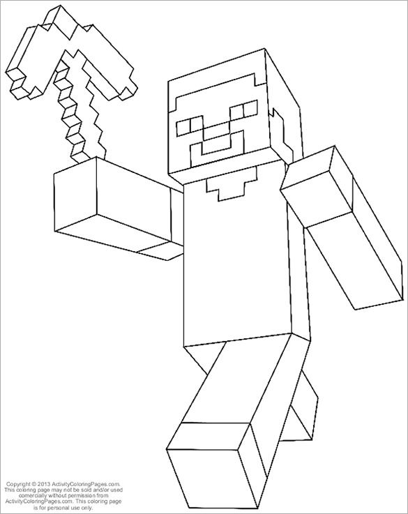 Minecraft Coloring Pages – 21+ Free Printable Word, PDF, PSD, PNG Format Download!   Free & Premium Templates