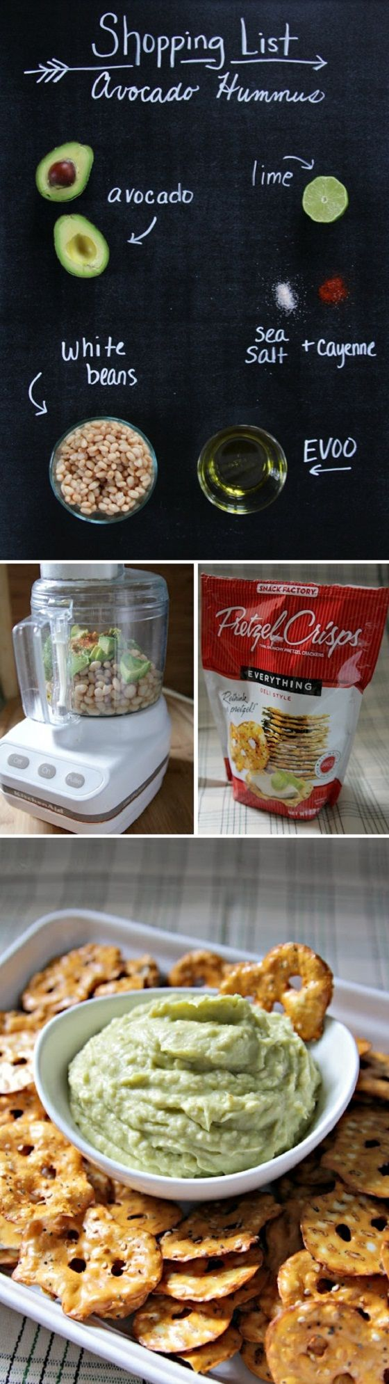 Avocado Hummus #healthy #appetizer