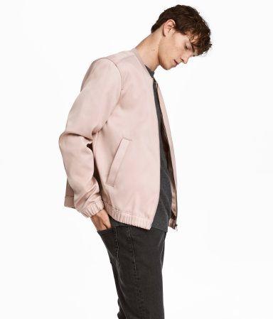 Satin Bomber Jacket | Light pink | MEN | H&M US