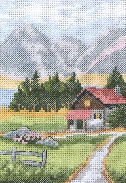 Buy Alpine Lodge Cross Stitch Kit Online at www.sewandso.co.uk