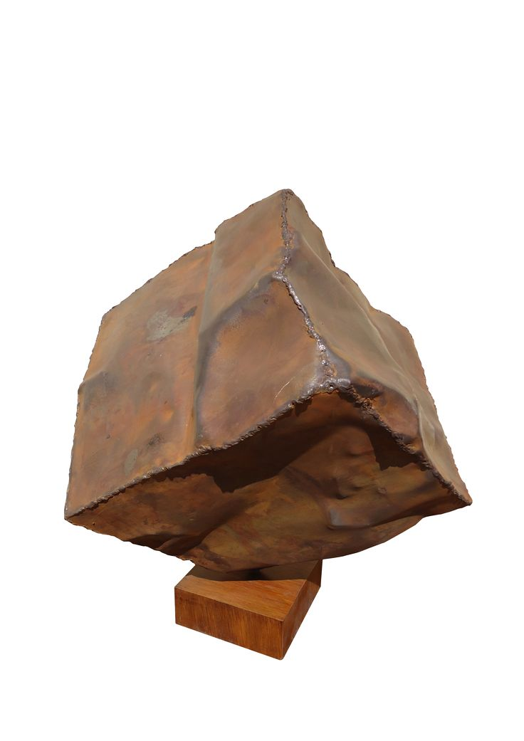 Sculpture available for sale. Name: Perfect cube,  Tehnique: Iron,  Size: 43/45/45 cm, Year: 2011