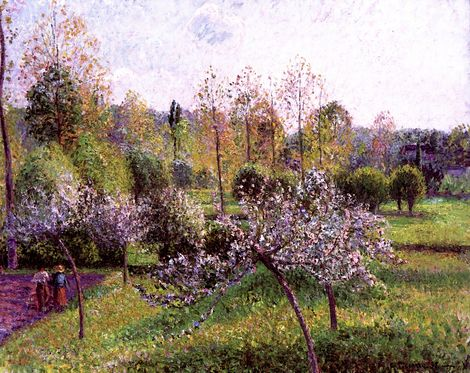 Camille Pissarro, Apple Trees in Flower, Eragny, 1895