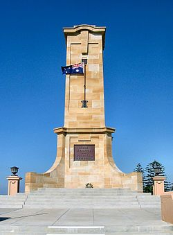Fremantle War Memorial.  Monument Hill, Fremantle Here is a step by step guide to a lovely little night—grab a picnic rug, get some cheap Asian eats from Freo's Old Shanghai, find a bottle of wine, then take it all up to Monument Hill to watch the sun set over our port city. So easy, so affordable and so magic.