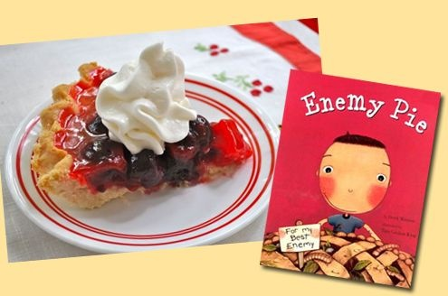 "Cherry Enemy Pie - A delicious cherry pie based on the children's book ""Enemy Pie"" with story time video included!"