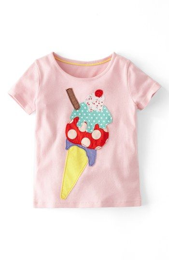 Mini Boden 'Big Appliqué' Tee (Toddler Girls) available at #Nordstrom