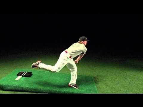 Drew Storen pitching mechanics in slow motion 1000 FPS - YouTube