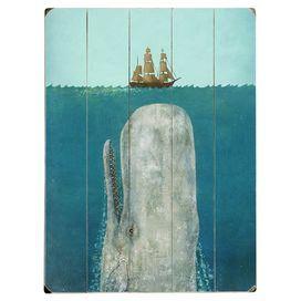 White Whale Wall Decor