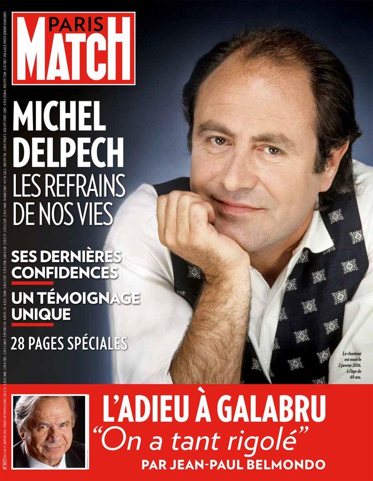 Paris-Match - janvier 2016 - Michel Delpech