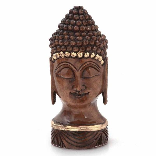 Antique Handcrafted Lord Buddha in Carved Wood -192