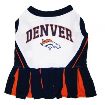 Officially licensed Denver Broncos NFL Cheerleader Outfit for Dogs!
