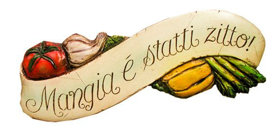 I love it!! Italian Tuscan Kitchen Decor Sign with the Italian by AlPisano, $42.95
