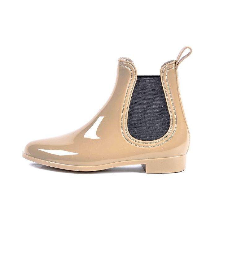 Womens All Rain Ankle Boots- Nude Casual Chelsea Style Wellies Gum Boots by Shaizy Shoes :) WANT!