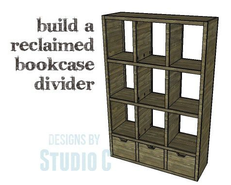 Diy Plans To Build A Reclaimed Bookcase Divider This