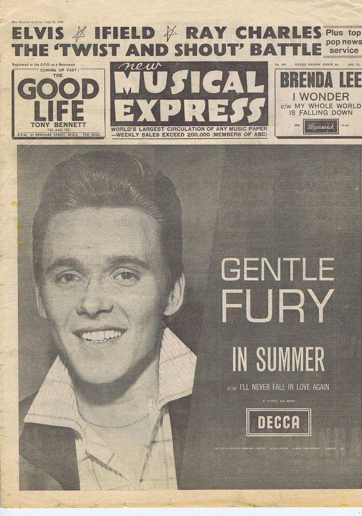 BILLY FURY / BEATLES / PRESLEY / FRANK IFIELD NME Jul 19 1963 | eBay