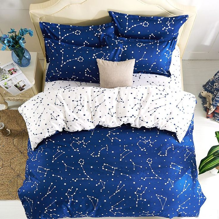 Hipster Galaxy Beddig Sets Universe Outer Space Themed Galaxy Print Duvet Cover Set No Comforter,King Double Queen Size Kids -in Bedding Sets from Home & Garden on Aliexpress.com | Alibaba Group