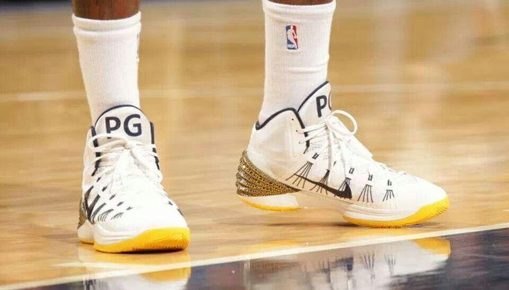 "Paul George wearing ""Home"" Nike Hyperdunk 2013 PE."