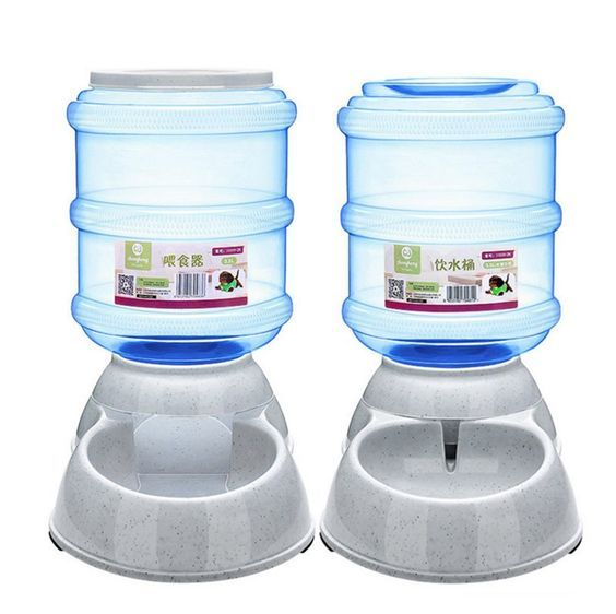 QR Automatic cat Feeder Water Food Dispenser Utensils Bowl Fountain Bottle cat Feeders And Waters Dog and Cat Food Station cat Feeder and Waterer * Find out more details by clicking the image : Cat Collar, Harness and Leash
