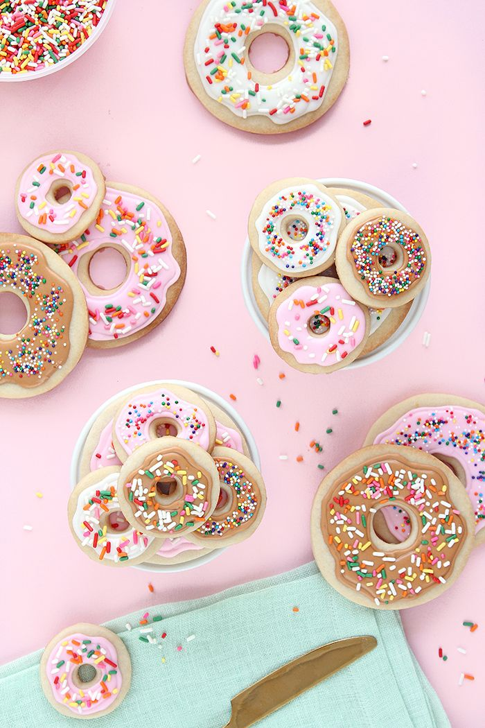 Donut Cookie DIY // How to Bake and Decorate Donut Cookies! - Keiko Lynn