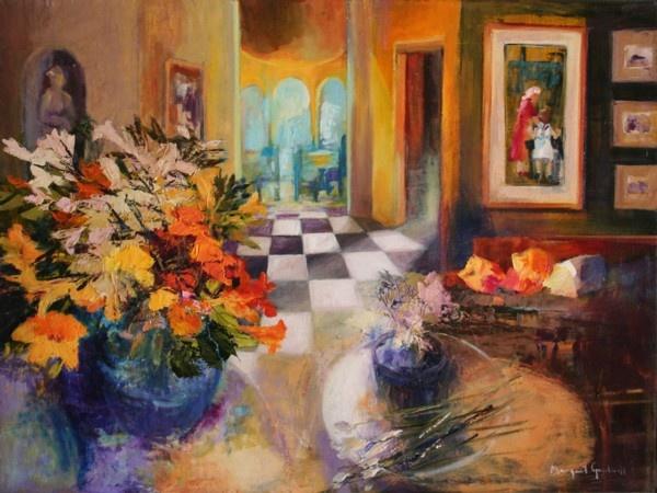 Still life » Artist: Margaret Gradwell Medium: oil on canvas Size: 750mm x 1000mm