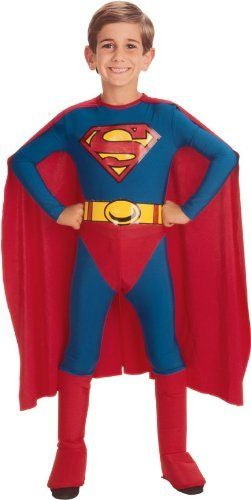 Kids Superman Costume by Official Costumes. $28.40. Please note: This item's color may vary due to inherent manufacturing variations or your computer monitor's color settings. The item you receive will be identical or substantially similar to the item pictured in this listing.. This classic Superman costume for kids includes a jumpsuit with attached cape and belt.. Item Sizing: The size guide found below is specific to the costume in this listing. Other costum...
