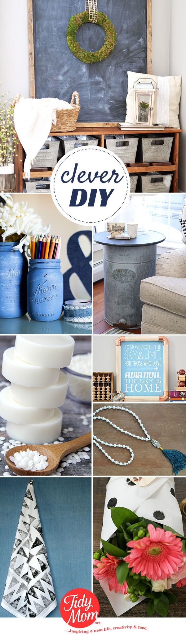 Clever DIY projects that go from ordinary objects to extraordinarty projects at TidyMom.net