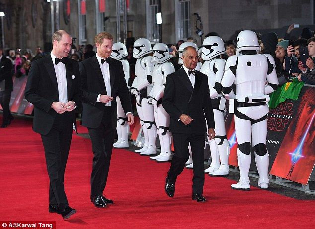 William and Harry were cut out of new Star Wars movie  Princes William and Harry were the talk of Hollywood when The Mail on Sunday revealed they were playing Stormtroopers in the latest Star Wars movie The Last Jedi.  And with the pair unrecognisable behind full-face helmets cinema goers had fun trying to guess where the Princes were positioned among the ranks of the intergalactic soldiers for the first Royal movie cameo.  But now we can reveal they were cut from the final edit  because say…