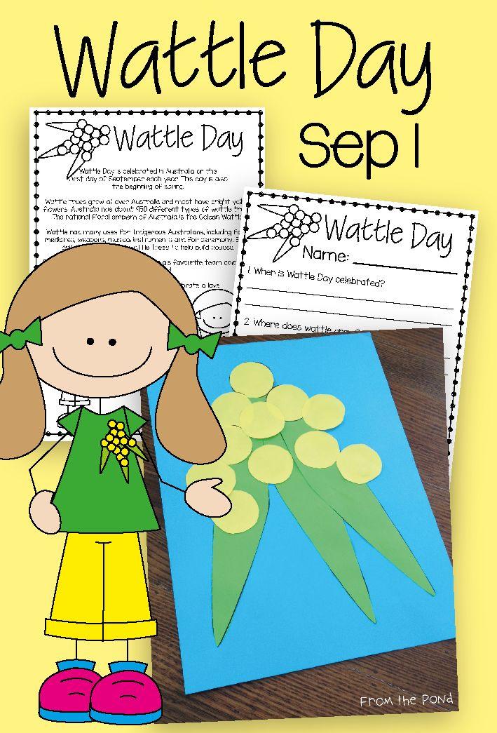 Wattle Day Freebies