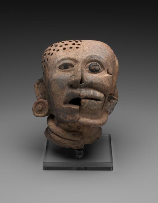 Veracruz, Gulf Coast, Mexico - Early Classic 300 AD-600 AD - Head with life and death aspects
