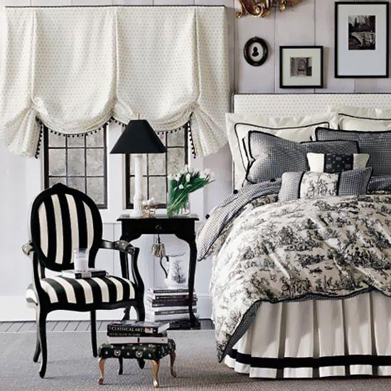 Черно-белые спальни