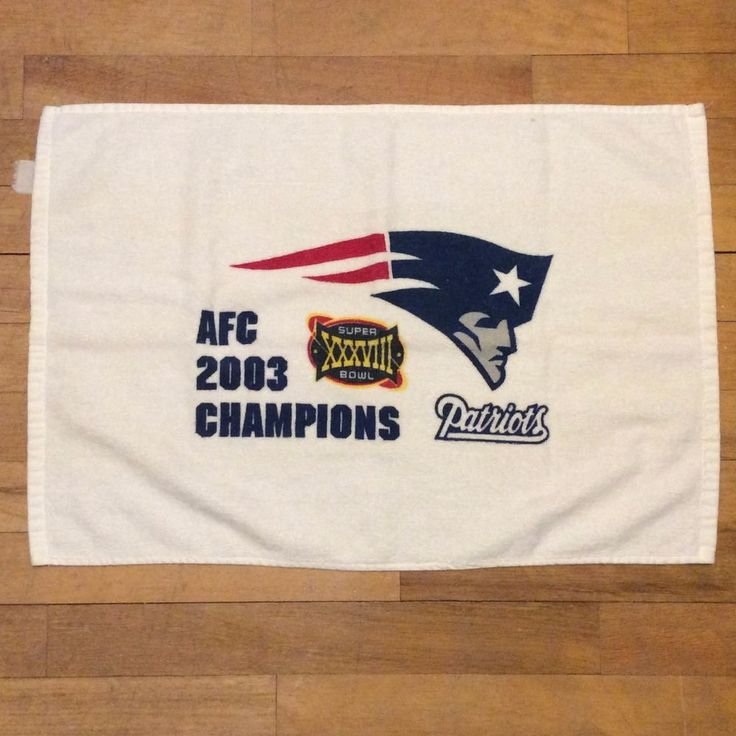 NFL New England Patriots Super Bowl XXXVIII Rally Towel AFC 2003 Champions #NFLLicensed #NewEnglandPatriots