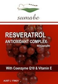 Sumabe Resveratrol Antioxidant Complex with CoEnzyme Q10 and Vitamin E, 60 Capsules