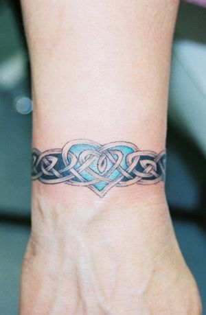 celtic tattoos for women   Celtic Wrist Band with Heart   Lions Lair Tattoo, LLC – A tattoo ...