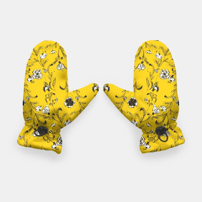 Yellow Floral Pattern Gloves, Live Heroes