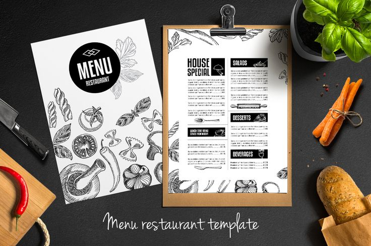 Food menu, restaurant flyer #4 by Barcelona Shop on Creative Market