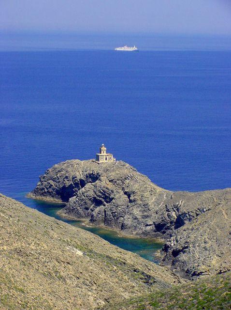 VISIT GREECE  Tinos lighthouse at Livada, Cyclades