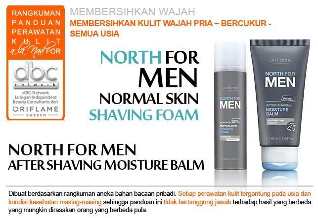 North For Men - Normal Skin (Shaving) Membersihkan kulit wajah pria bercukur. Untuk semua usia.