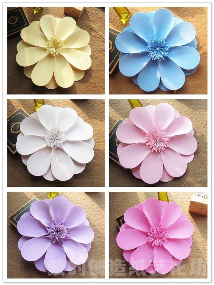 Новый Год украшения бумажные цветы крупные цветы, чтобы украсить окна гостиной свадебный номер ручной пользовательские пены цветок купить на AliExpress