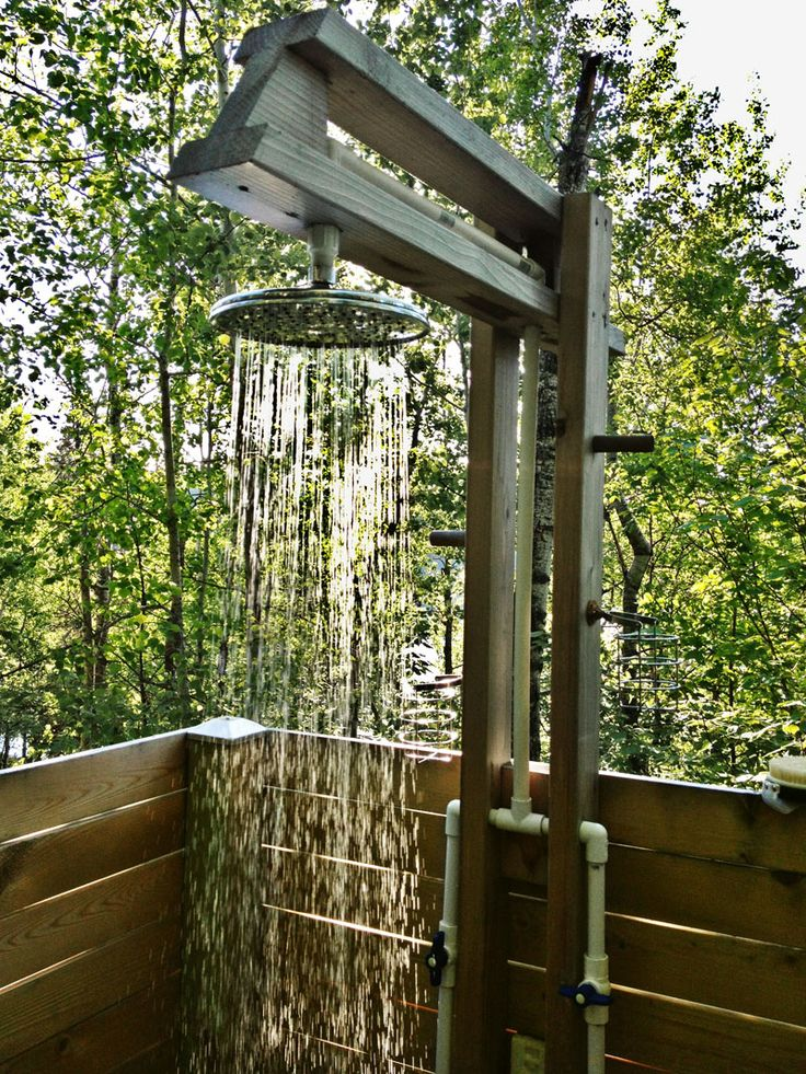 "Northern Minnesota's average summer temperature is around 60°F. So it was only natural that my wife of 34 years, Barb, would ask: ""Why would anyone want an outdoor shower?"" So the challenge begins … Two years ago during a family reunion at our cabin on Bluewater Lake, a discussion developed around the pros and cons …"