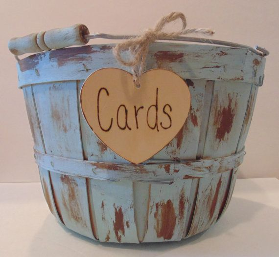 Wedding+Card+Box/Basket+Rustic+Card+Holder+by+sugarplumcottage,+$34.00