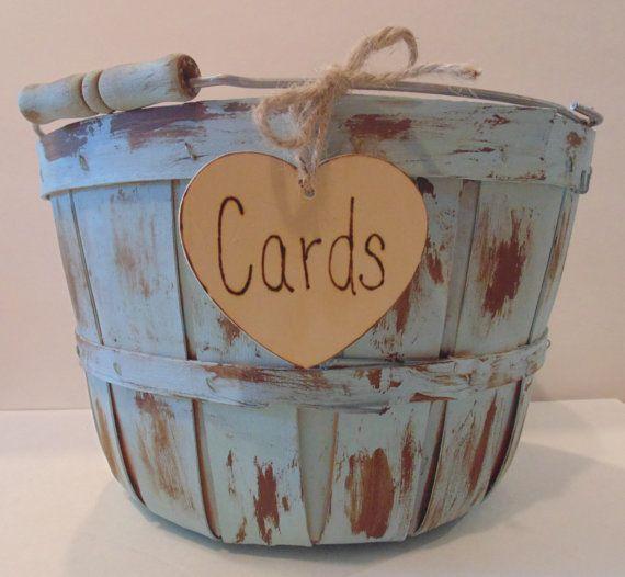 Wedding+Card+Box/Basket+Rustic+Card+Holder+by+sugarplumcottage,+$34.00